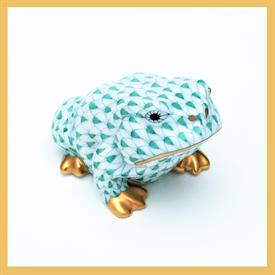 ",15321.0.00/VHV TOAD FROG W/ GREEN FISHNET W/ GOLD ACCENTS. 1.75""T X 2""W X 3.25""D"