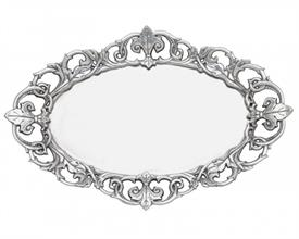 "-OVAL SERVING TRAY. 20"" LONG, 13.5"" WIDE, 1.5"" TALL"