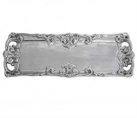"-PIERCED OBLONG TRAY. 17"" LONG, 6"" WIDE"