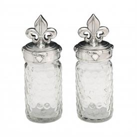 "-SALT & PEPPER SET. 5.75"" TALL, 2"" WIDE"