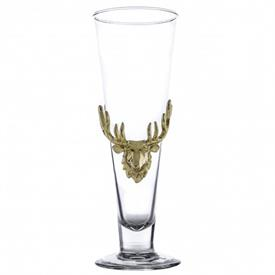 "-24K GOLD PLATED PILSNER GLASS. 9.25"" TALL."