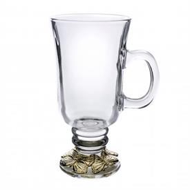 "-24K GOLD PLATED GLASS MUG. 6"" TALL, 3"" WIDE"