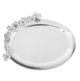 "-OVAL PLATTER. 18"" LONG, 16"" WIDE, 2"" TALL"