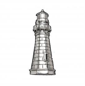 "-LIGHTHOUSE NAPKIN WEIGHT. 4"" LONG, 2"" WIDE"