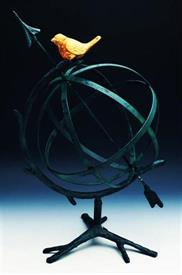 ",_50880 DESKTOP ARMILLARY WITH GILDED BIRD ON TOP 20.5""HGT"