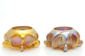 A PAIR OF SALT CELLARS. THESE ARE VERY RARE. STUNNING. CIRCA 1890-1900.