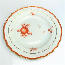 ",RED FRUIT #697 10"" DINNER PLATE SCRATCH THROUGH BLUE WAVE MARK"