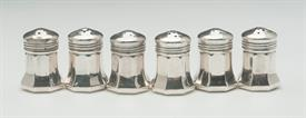 "THREE PAIR OF INDIVIDUAL SALT & PEPPER SHAKERS STERLING SILVER MADE BY CARTIER 1.5 TROY OUNCES FOR ALL 6 PIECES 1.35"" TALL"