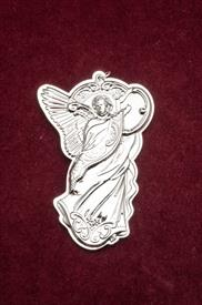 ,_13TH ANNUAL ANGEL GRANDE BAROQUE ORNAMENT STERLING SILVER MADE BY WALLACE IN YEAR 2013