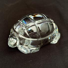 ",CLEAR TURTLE PAPERWEIGHT. SCRATCHES ON BASE. 3.75"" LONG, 2.5"" WIDE, 1.5"" TALL"