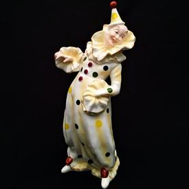 ",CLOWN/HARLEQUIN FIGURINE 9 3/4""T. CIRCA 1960'S"