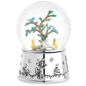 ",MUSICAL SNOWGLOBE. 6.75"". PLAYS BRAHMS LULLABY"
