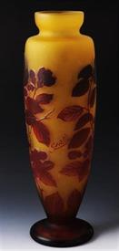",CAMEO GLASS VASE 15"" TALL"