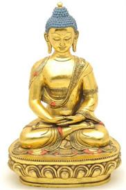 ":GILT BUDDHA TIBET 19"" TALL NICE PIECE"