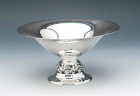 """LOW COMPOTE CANDY DISH BOWL STERLING SILVER 7"""" DIAMETER AT TOP 3.4"""" HIGH MARKED <M>STERLING 1115 -MADE IN THE STYLE OF GEORG JENSEN"""