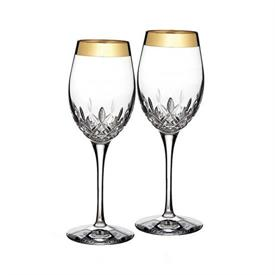 _,SET OF 2 WIDE BAND WINE GLASSES