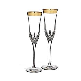 -,SET OF 2 WIDE BAND CHAMPAGNE FLUTES