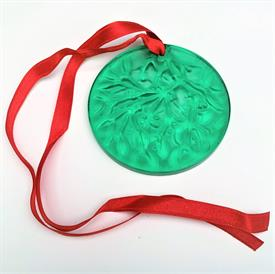 ",1990 GREEN GUI MISTLETOE NOEL DISC ORNAMENT. 2.5""D. ORIGINAL BOX INCLUDED"