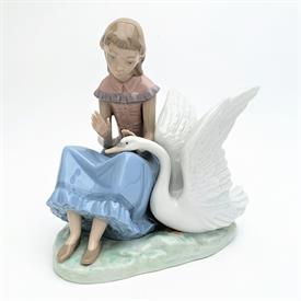 ",RARE 'MY SWAN' GIRL WITH SWAN FIGURINE. 7.3"" TALL, 7"" LONG, 5.5"" WIDE"