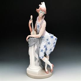 ",4924 LANGUID CLOWN. 16"" TALL. DESIGNED BY SALVADOR FURIO. 1974-1983. PROFESSIONAL REPAIRS-GLAZE HAS DICOLORED (SEE PHOTOS)"