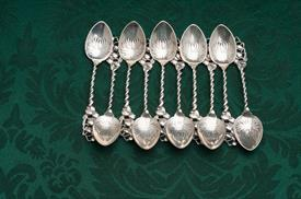 ,SET OF 10 DEMITASSE SPOONS WHITING STERLING SILVER LILIES STYLE PATTERN WEIGHT 2.90 TROY OUNCES
