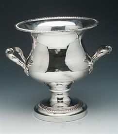 "CHAMPAGNE OR CHILLED WINE BUCKET SILVER PLATED 9.5"" TALL"