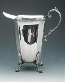 """WATER PITCHER SILVER PLATED UNKNOWN MAKER 9.75"""" TALL"""