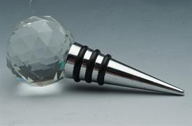 "-655101 GOLF BALL  WINE STOPPER 4""L.CRYSTAL GOLF BALL TOP."