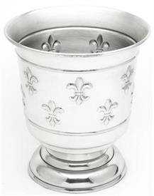 """-WINE COOLER ALUMINUM ON A PEDESTAL WITH FLEUR de LEIS DESIGN ON SIDES.10.5""""IN HGT."""