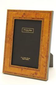 "_4X6 FRAME BIRDSEYE MAPLE WITH INLAID MARQUETRY TRIM FIBRE BACKING OVERALL SIZE 6"" X 8 1/4."""