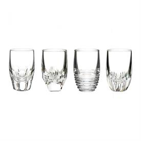 -SET OF 4 CLEAR SHOT GLASSES