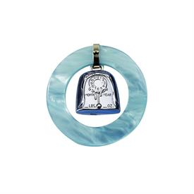 "-,BIRTH RECORD BLUE RATTLE ROUND PLACE TO ENGRAVE DATE,TIME,YEAR AND WT. PLAIN BACK FOR NAME 2.5"" ROUND"