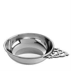 "-PEWTER PORRINGER - TRADITIONAL 4"" WITH SCROLL HANDLE."