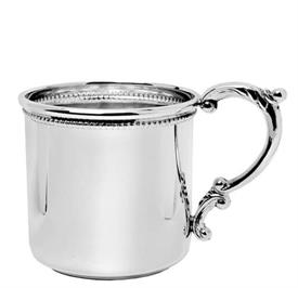 -Baby cup beaded w/ scroll handle. sterling silver.2""