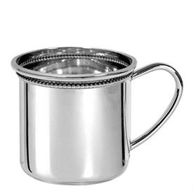 "-Baby cup beaded cambridge. sterling silver. 2 1/4"" TALL"
