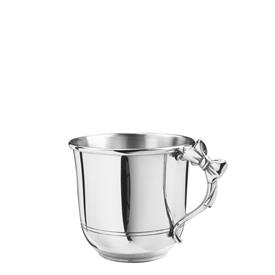 -PEWTER CUP WITH BOW HANDLE