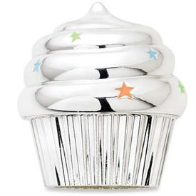 _,SILVERPLATE MUSICAL CUPCAKE. PLAYS 'HAPPY BIRTHDAY'