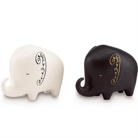 "-WOODLAND PARK ELEPHANT SALT & PEPPER SHAKERS. 2.75"" TALL"