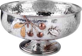 ",WHITING FRUIT BOWL 28.35 TROY OUNCES 8.75"" DIAMETER 4.75"" TALL STERLING SILVER, COPPER & GOLD -INCLUDES MATCHING BERRY SERVER-STUNNING PIEC"