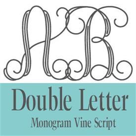 -:35-355 2 LETTER VINE SCRIPT MONOGRAM