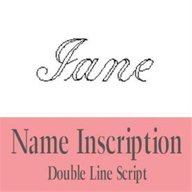 -:35-337 Name: Script engraving. Perfect for a girls or womans name. (First name only)