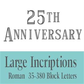 -Large Incriptions - priced by the letter (Minimum order of 25 characters)