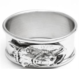 "_606P/HH1 NAPKIN RING PEWTER OVAL RINGWITH HORSE HEAD APPLIQUE  1 1/8""W 2 1/8""LONG."