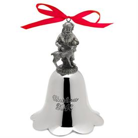 _23RD ANNUAL SANTA BELL NICKLE PLATED PEWTER FINISH