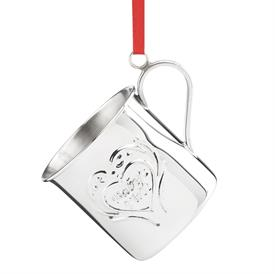 "_867093 2016 BABY'S FIRST CHRISTMAS CUP WILLIAMSBURG STERLING SILVER ORNAMENT MADE BY REED & BARTON 1-1/2"" HIGH MSRP $125.00 REDUCED 11-25"