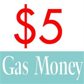 _RECEIVE $5 MORE ON YOUR PURCHASE FOR GAS MONEY RE-IMBURSEMENT WHEN YOU SELL US $20 MORE OF MERCHANDISE OR MORE.