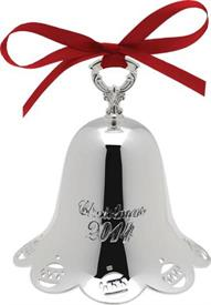 _35TH RINGING BELL SILVER PLATED QH ANNIVERSARY EDITION HOLIDAY BELL ENGRAVED CHRISTMAS 2014.