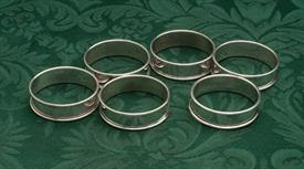 ,SET OF 6 NAPKIN RINGS TACHENG CHINESE STERLING SILVER DRAGON THEME 4.15 TROY OUNCES FOR ALL
