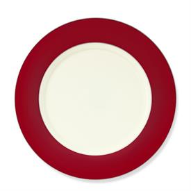 _COLORBURST RED & PLATINUM DINNER PLATE, NEW FROM DISPLAY. MSRP $67.00