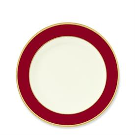 _COLORBURST RED & GOLD SALAD PLATE. MSRP $44.00